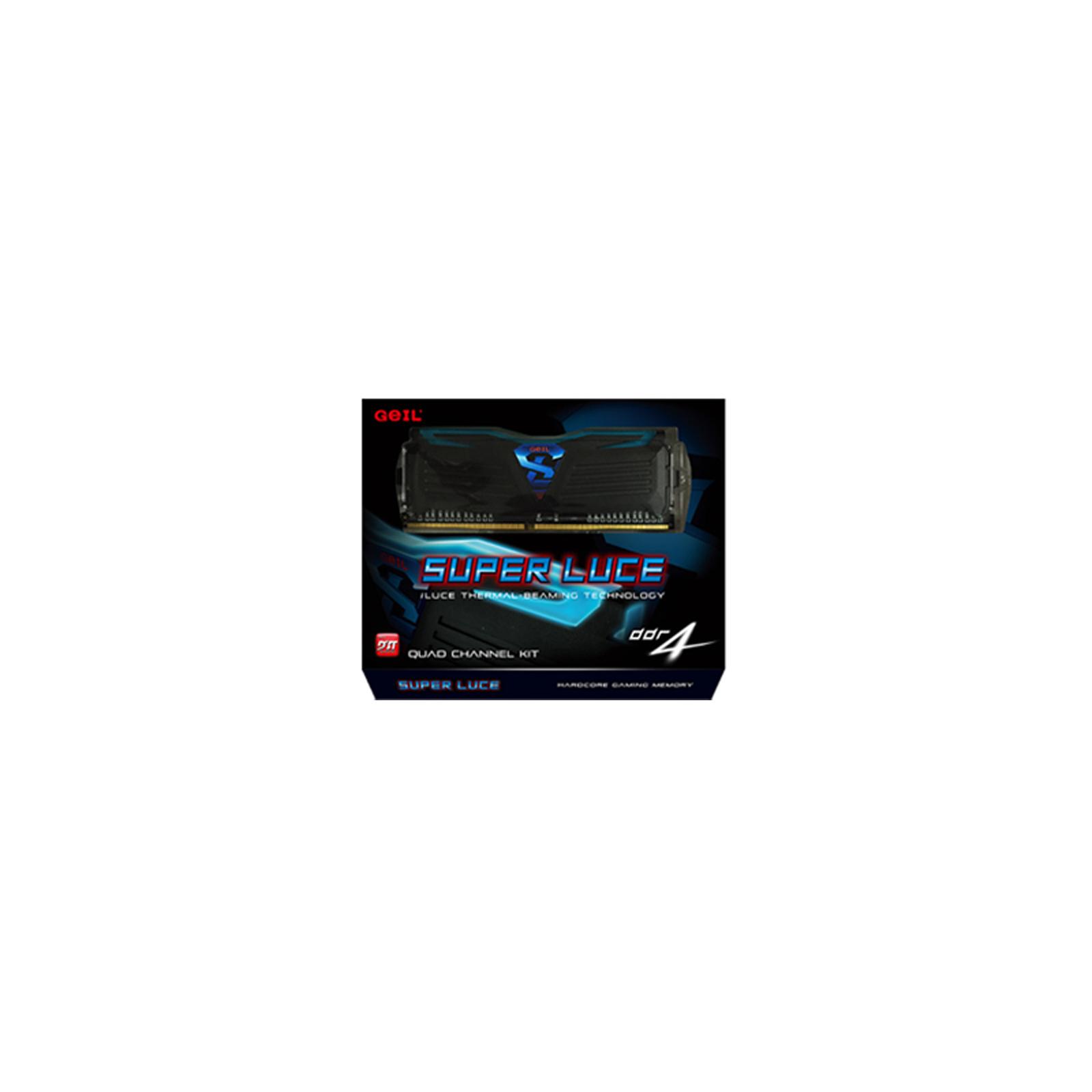 Модуль памяти для компьютера DDR4 8GB (2x4GB) 2666 MHz Super Luce GEIL (GLB48GB2666C15DC) изображение 3