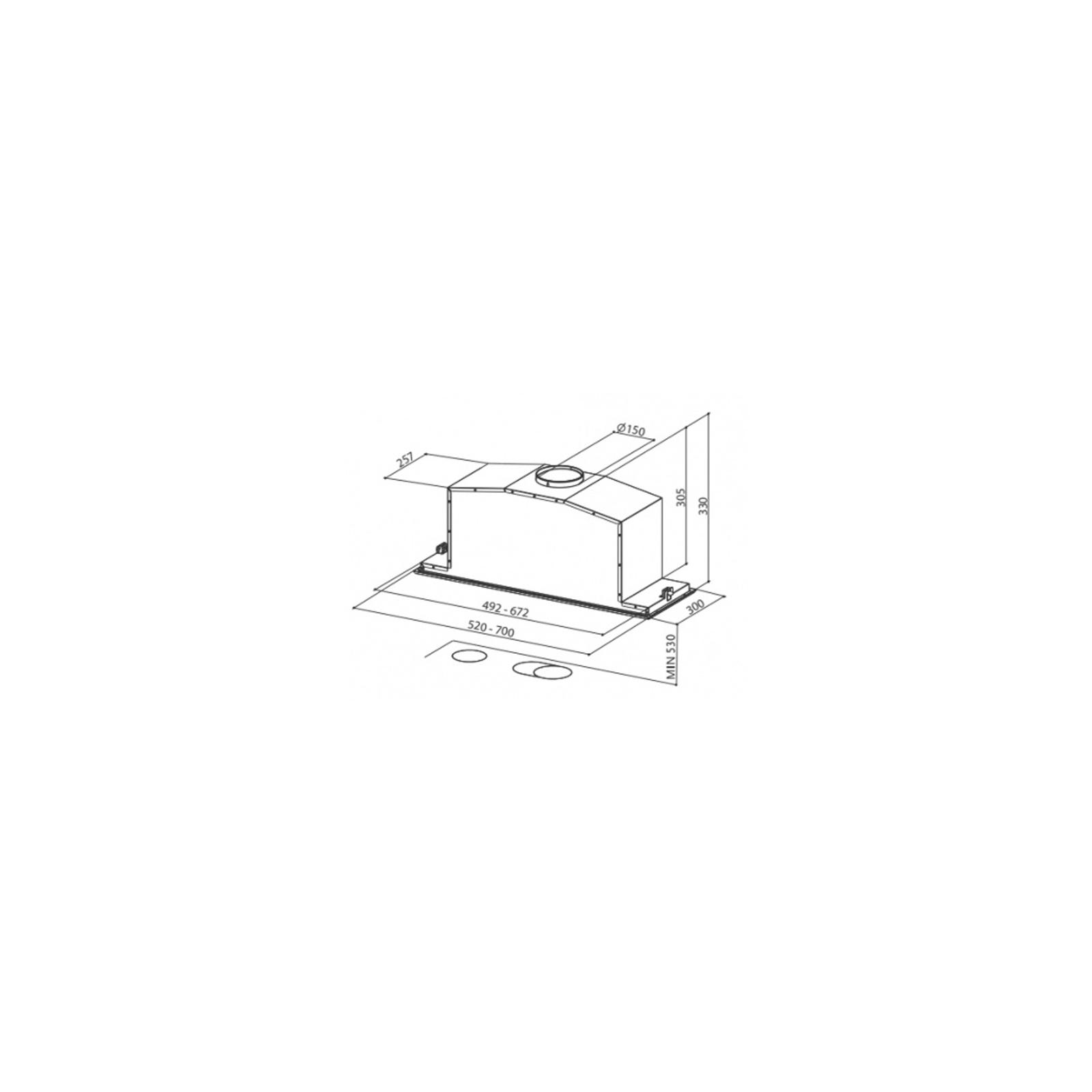 Вытяжка кухонная Faber INCA LUX 2.0 EG8 X A70 изображение 2