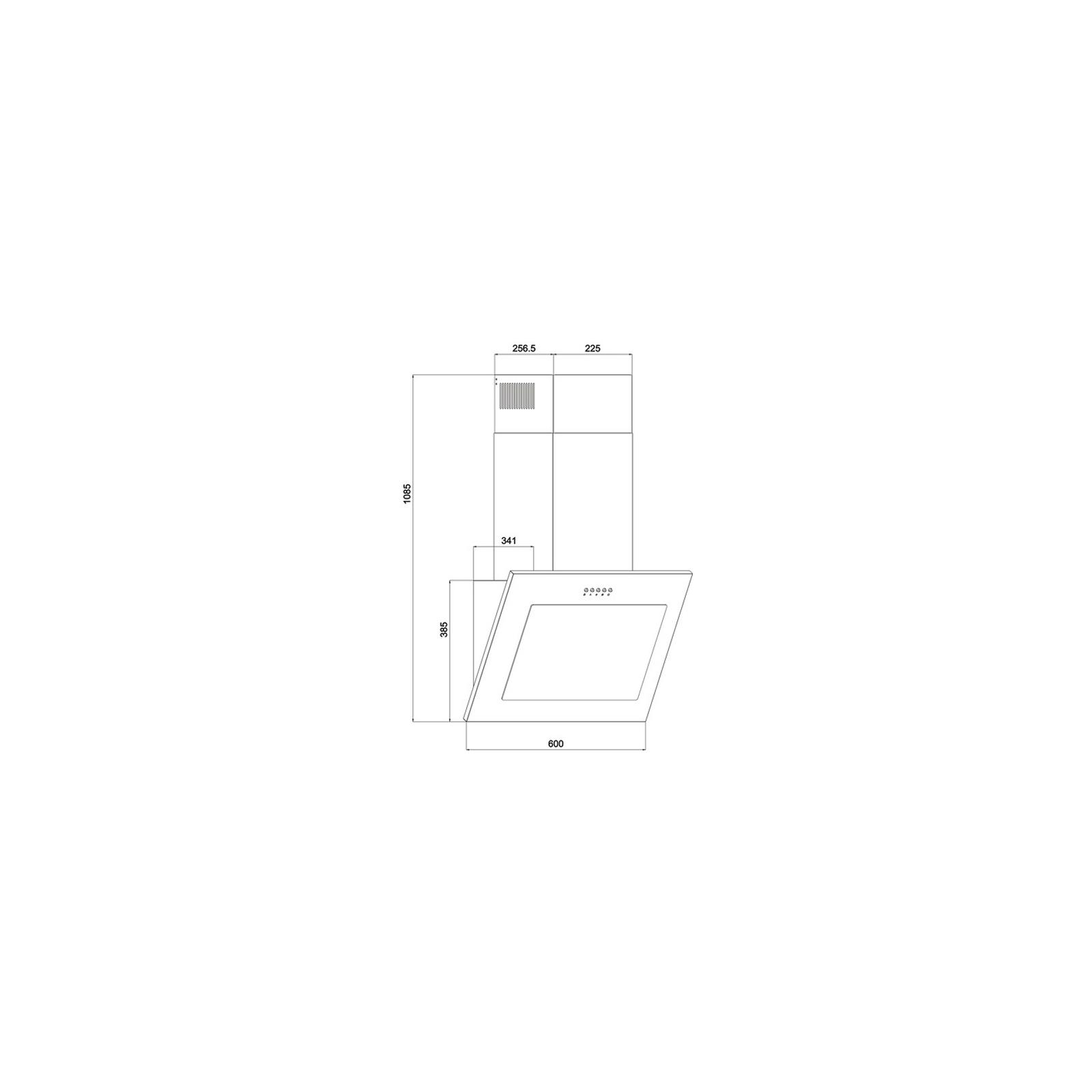 Вытяжка кухонная INTERLINE ROCK WH A/60 PB/2 изображение 2