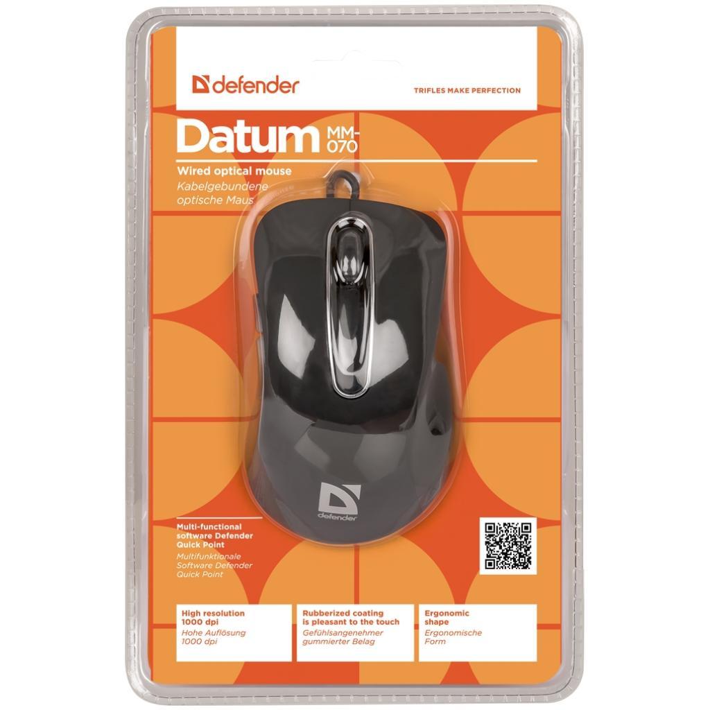 Мышка Defender Datum MM-070 Black (52070) изображение 5