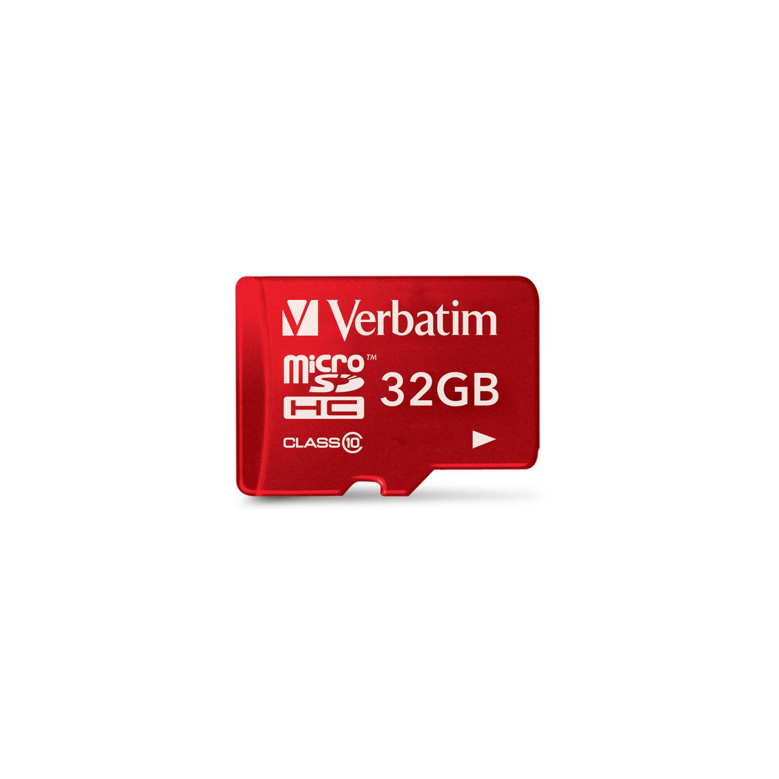 Карта памяти Verbatim 32GB microSDHC class 10 (#44044) изображение 2