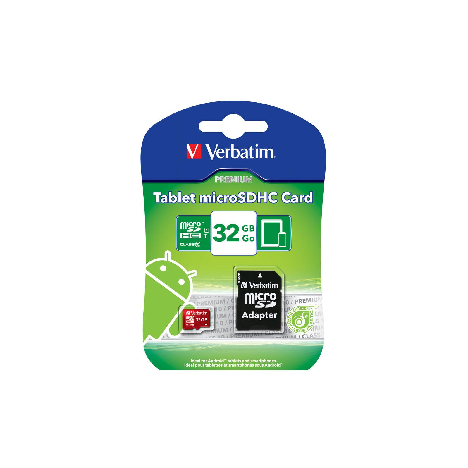 Карта памяти Verbatim 32GB microSDHC class 10 (#44044) изображение 3