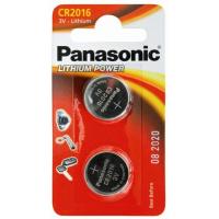 Батарейка PANASONIC CR 2016 * 2 LITHIUM (CR-2016EL/2B)