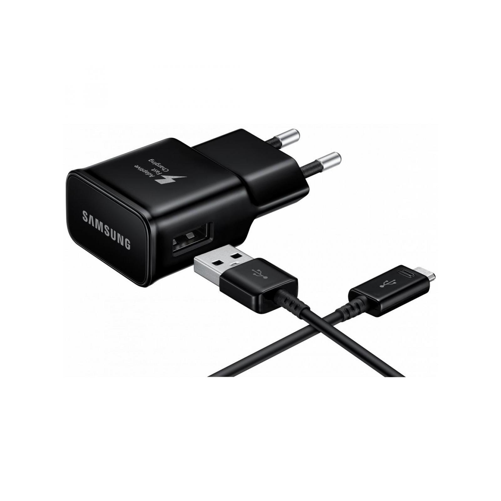 Зарядное устройство Samsung 2A + Type-C Cable (Fast Charging) Black (EP-TA20EBECGRU) изображение 4