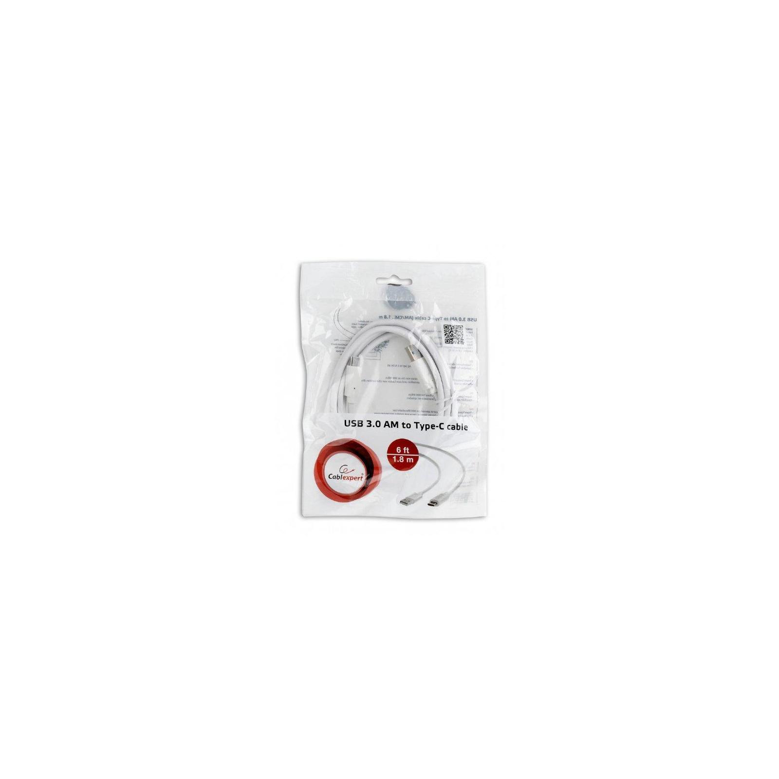 Дата кабель USB 3.0 AM to Type-C 1.8m Cablexpert (CCP-USB3-AMCM-6-W) изображение 4