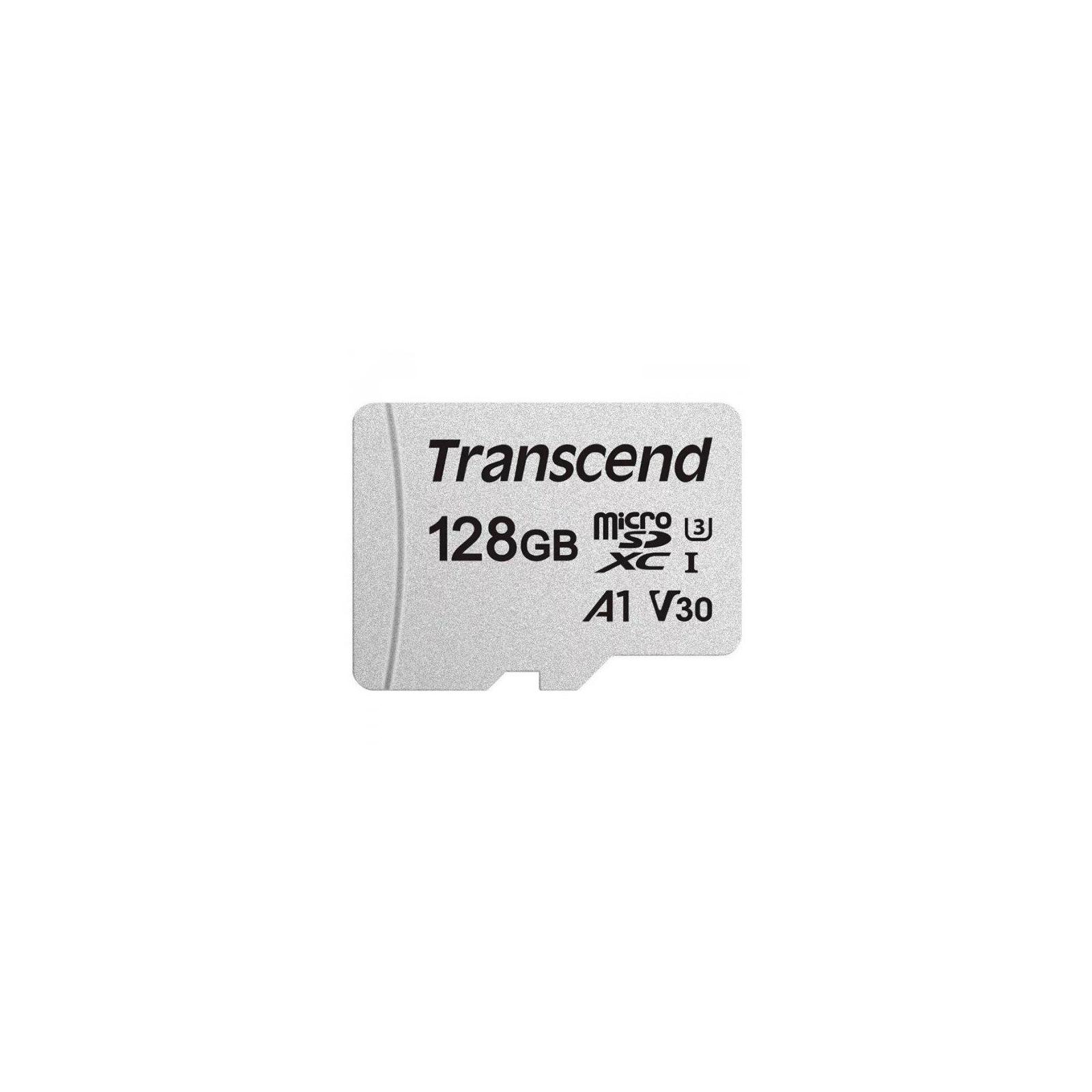 Карта памяти Transcend 128GB microSDXC class 10 UHS-I U3 (TS128GUSD300S-A) изображение 2