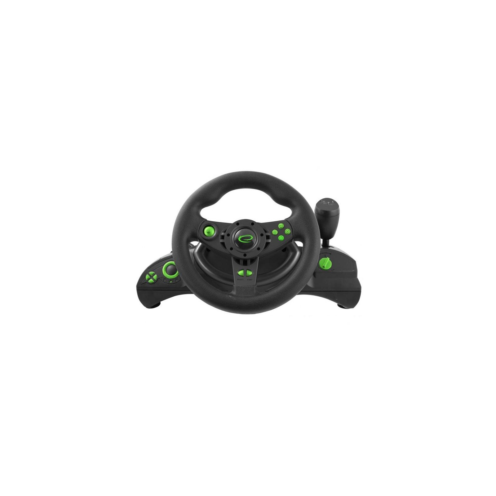 Руль Esperanza PC/PS3 Black-Green (EGW102) изображение 3