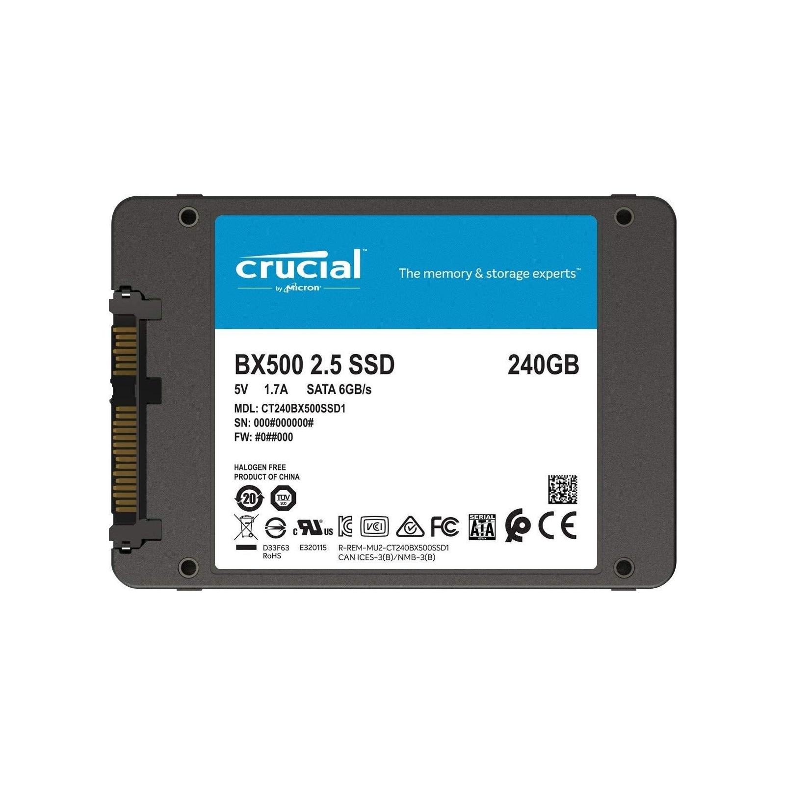 """Накопитель SSD 2.5"""" 240GB MICRON (CT240BX500SSD1) изображение 2"""