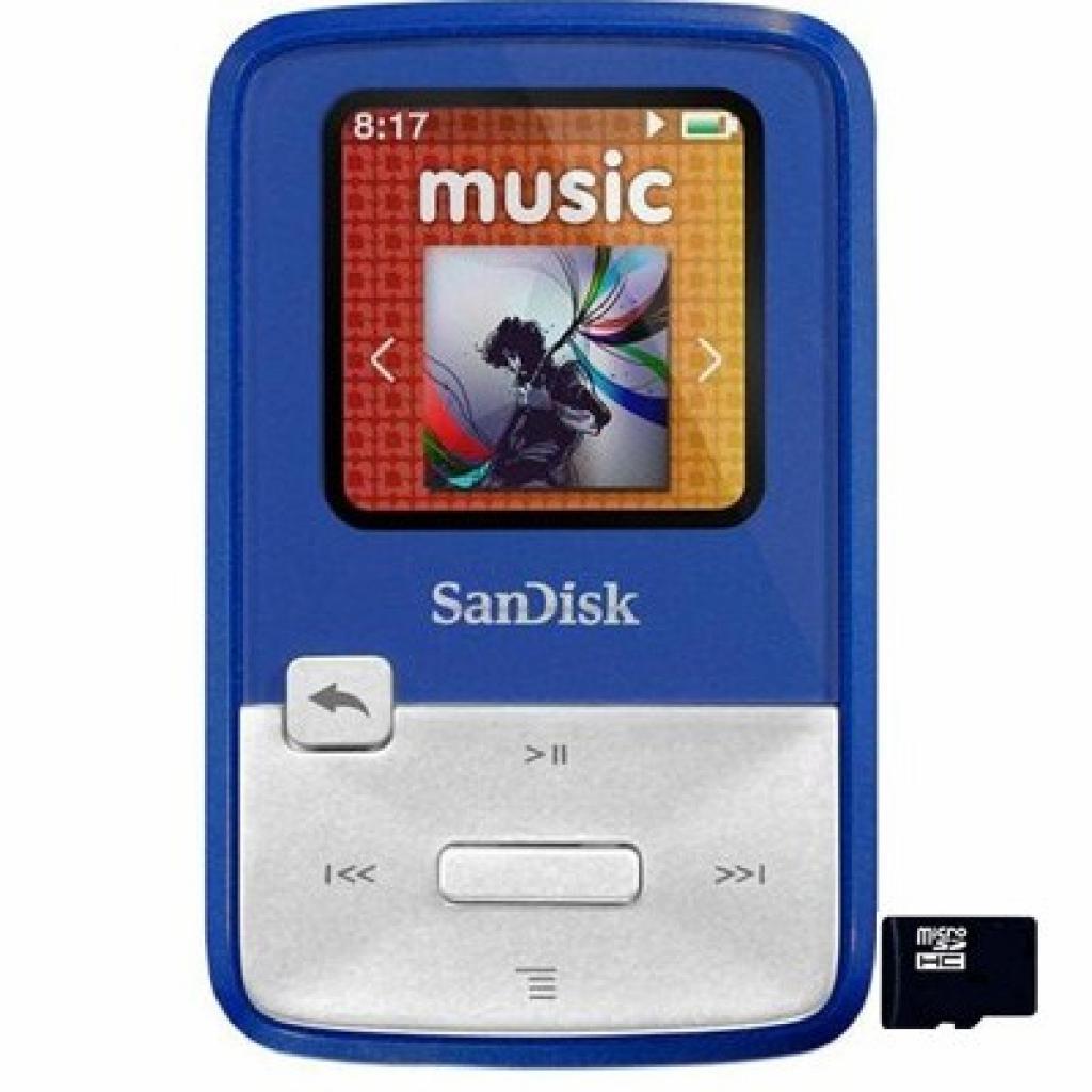 mp3 плеер SANDISK Sansa Clip Zip 4GB Blue (SDMX22-004G-E46B)