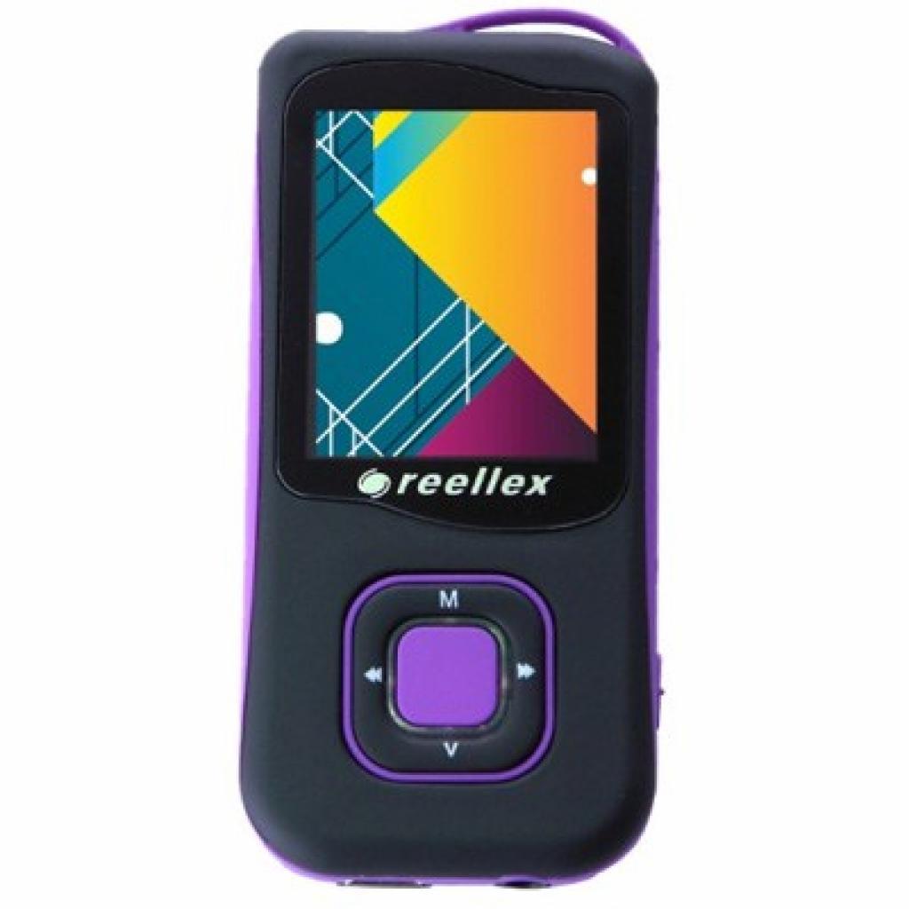 mp3 плеер Reellex UP-47 4GB Black/Violet (UP-47 Black/Violet)