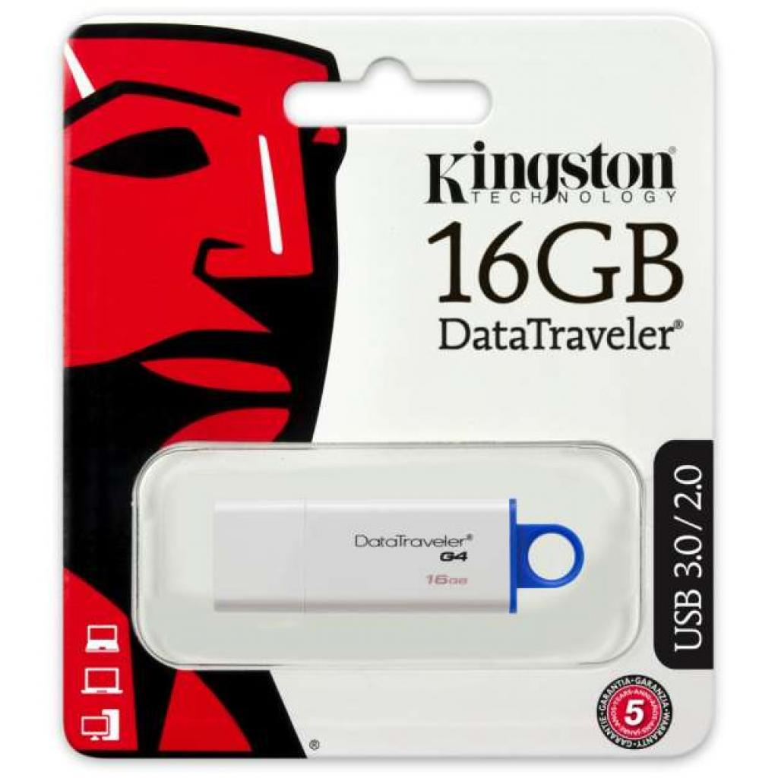 USB флеш накопитель Kingston 128Gb DataTraveler Generation 4 (DTIG4/128GB) изображение 3