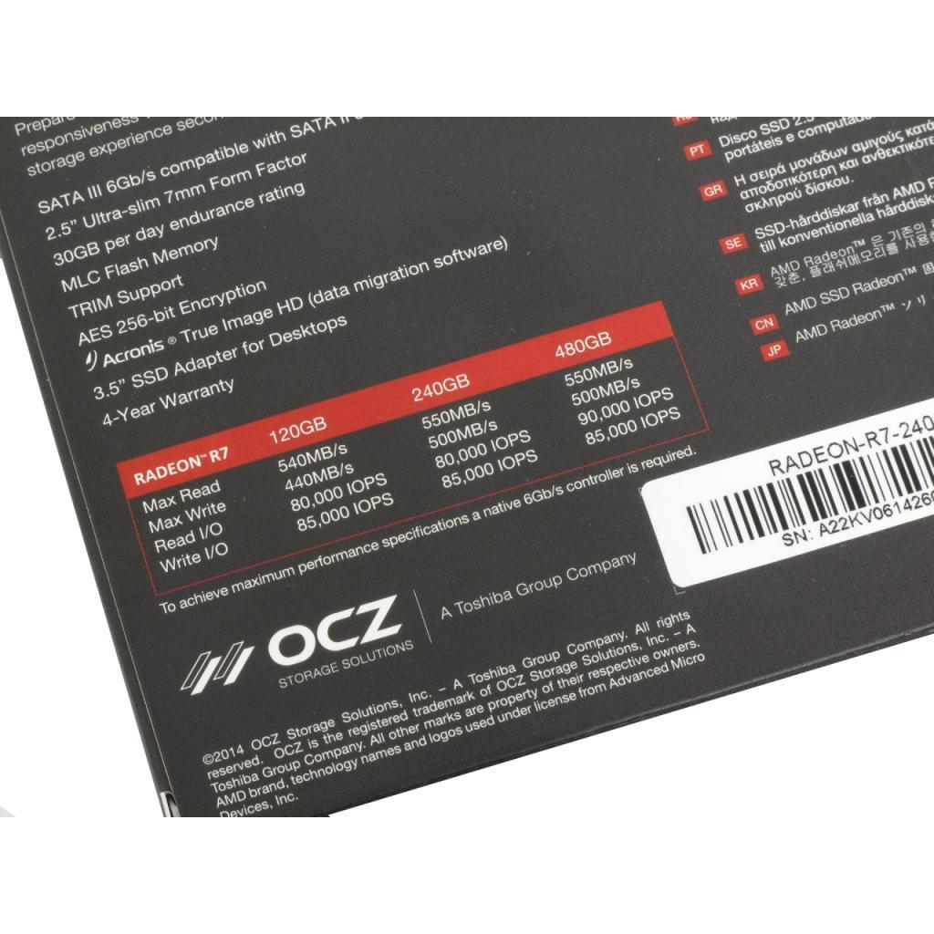 "Накопитель SSD 2.5"" 240GB AMD (RADEON-R7SSD-240G) изображение 6"