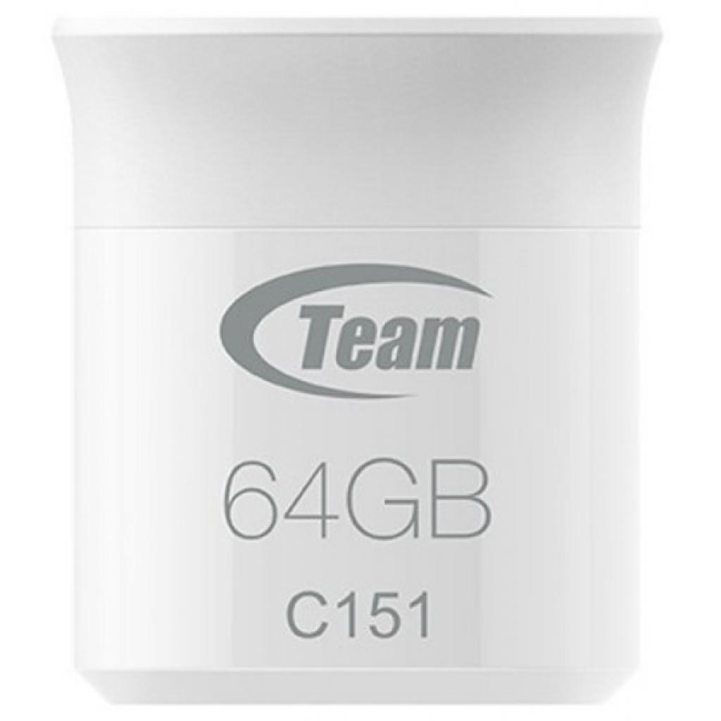 USB флеш накопитель Team 64GB C151 Silver USB 2.0 (TC15164GS01)