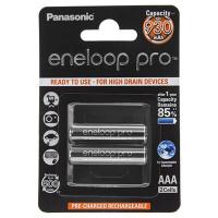 Аккумулятор PANASONIC Eneloop Pro AAA 930 mAh NI-MH * 2 (BK-4HCDE/2BE)
