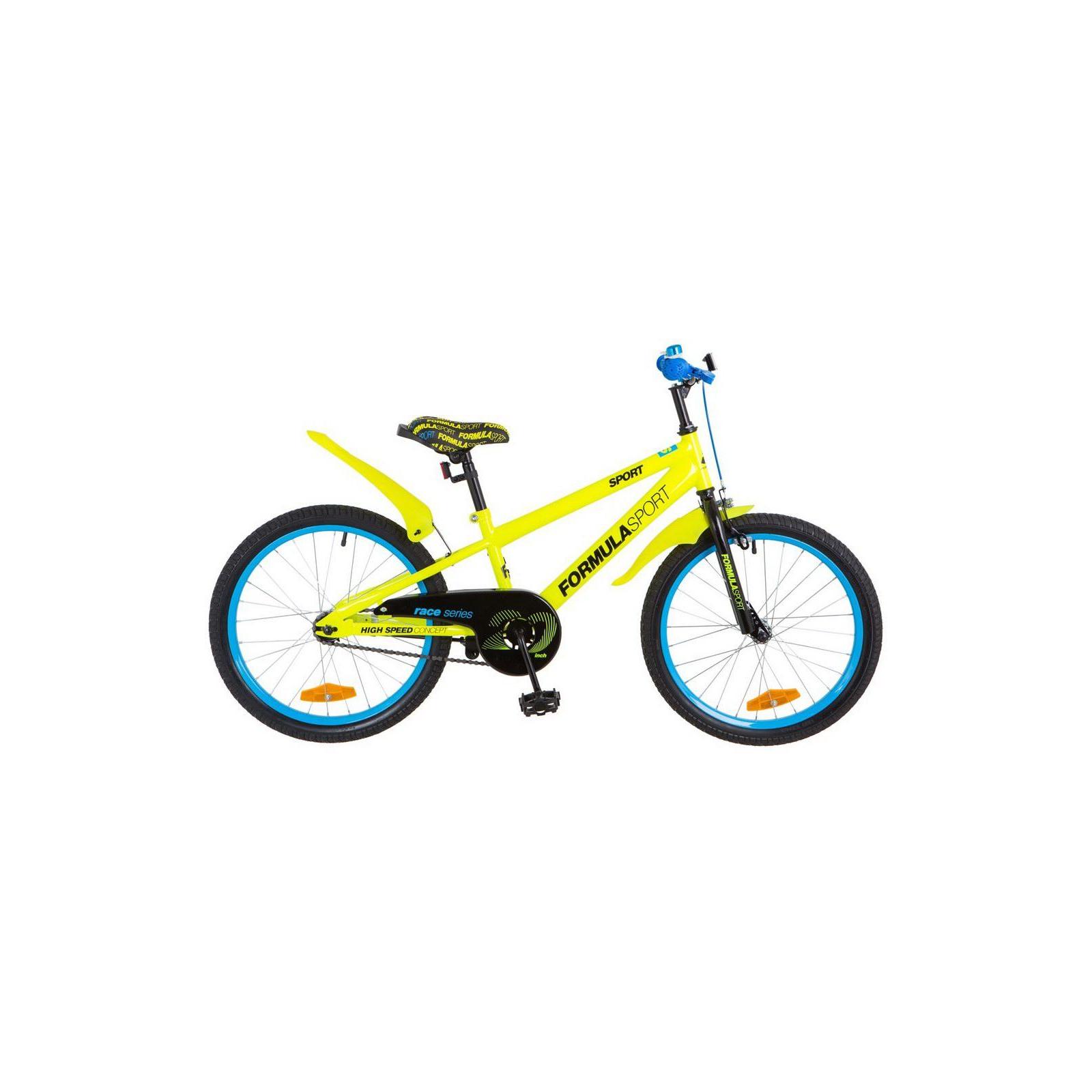 """Детский велосипед Formula 20"""" SPORT 2018 14G рама-10,5"""" St желтый (OPS-FRK-20-055)"""