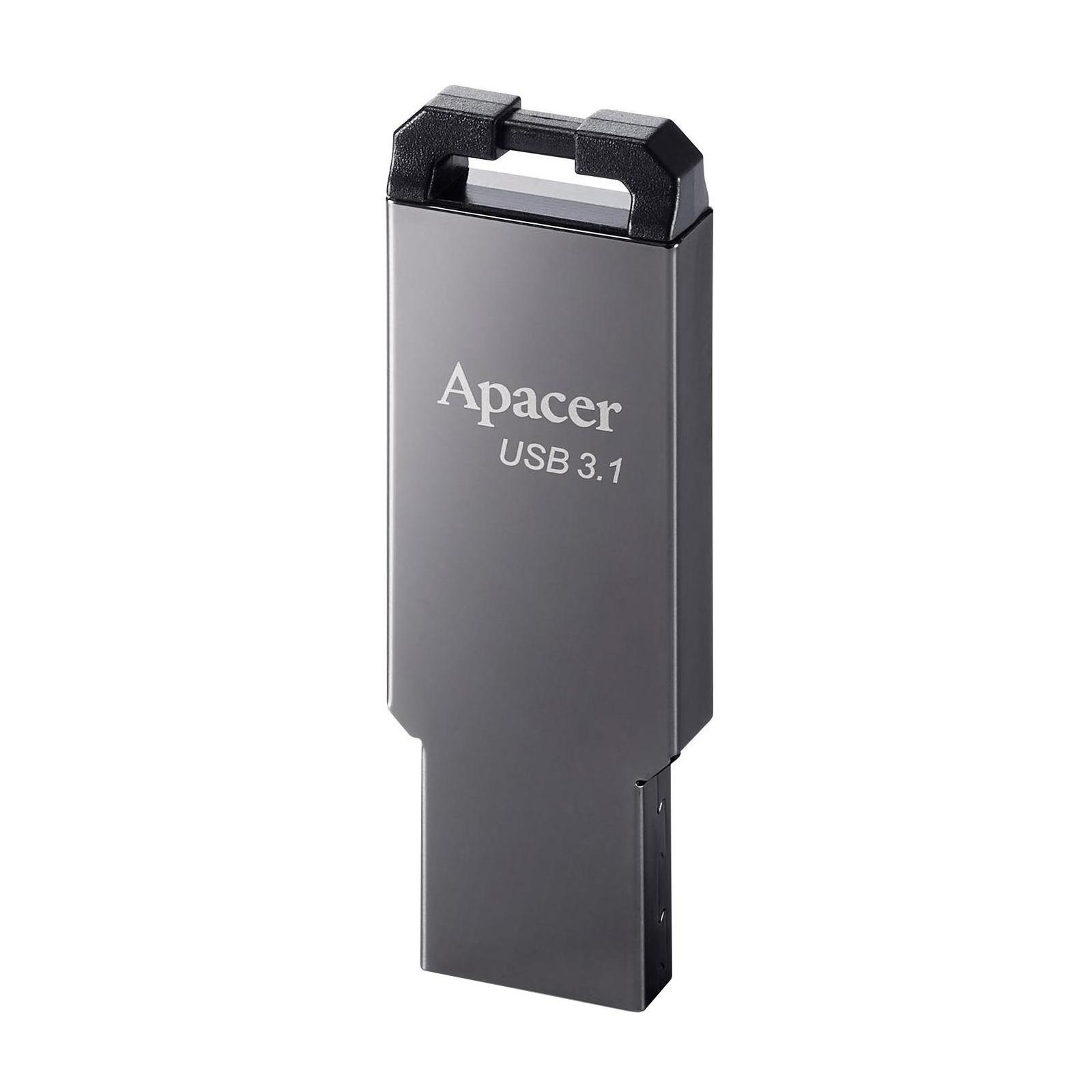 USB флеш накопитель Apacer 16GB AH360 Ashy USB 3.1 Gen1 (AP16GAH360A-1) изображение 2