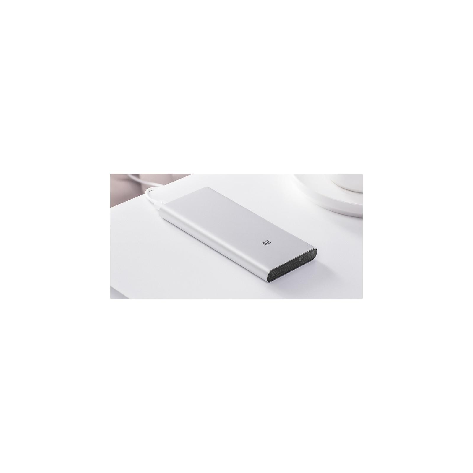 Батарея универсальная Xiaomi Mi Power bank 3 10000mAh QC3.0(Type-C), QC2.0(USB) Silver (PLM12ZM) изображение 5