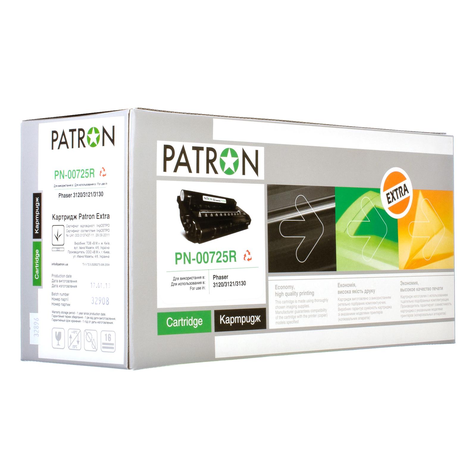 Картридж PATRON XEROX Ph 3120 (PN-00725R) 109R00725 Extra (CT-XER-109R00725-PNR) изображение 2