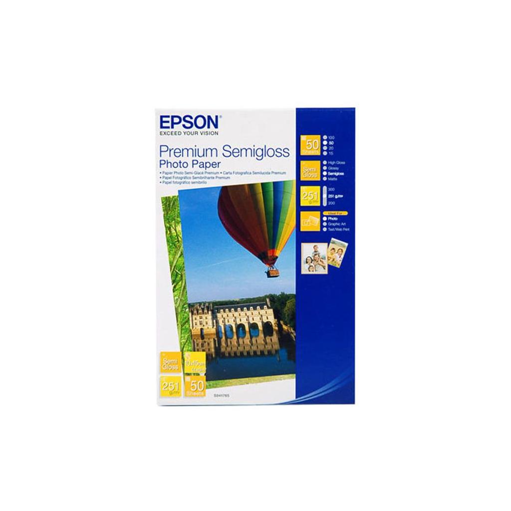 Бумага EPSON 10х15 Premium Semigloss Photo (C13S041765)