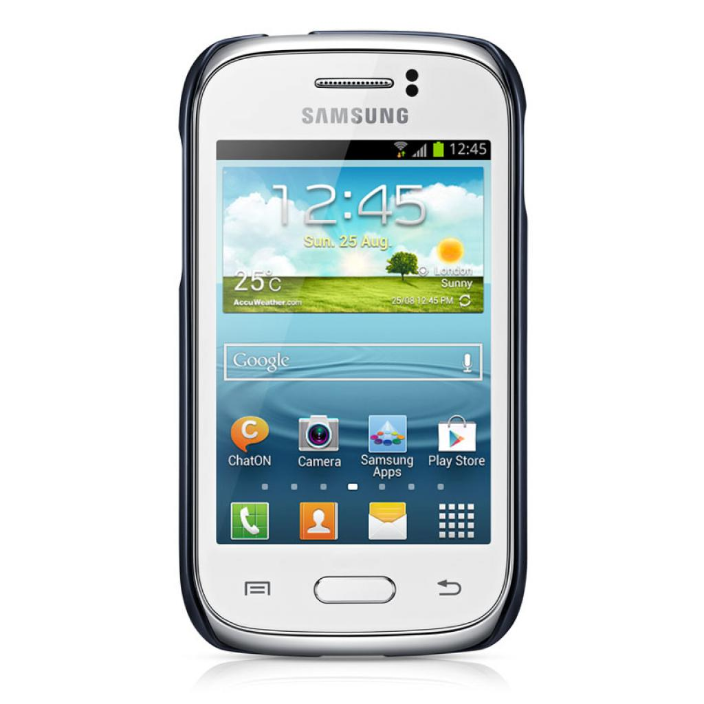 Чехол для моб. телефона Samsung S6312 Galaxy Young/Blue/накладка (EF-PS631BLEGWW) изображение 2