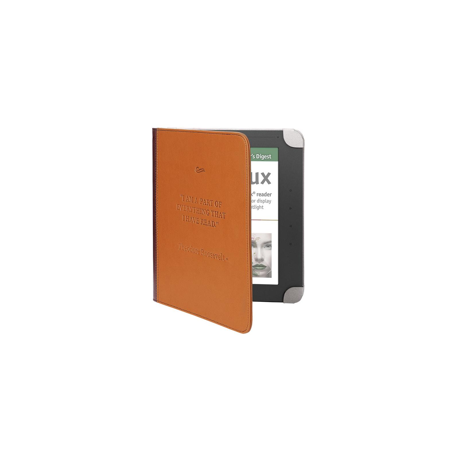 Чехол для электронной книги PocketBook PB801 brown/grey (PBPUC-8-BR-BK) изображение 2
