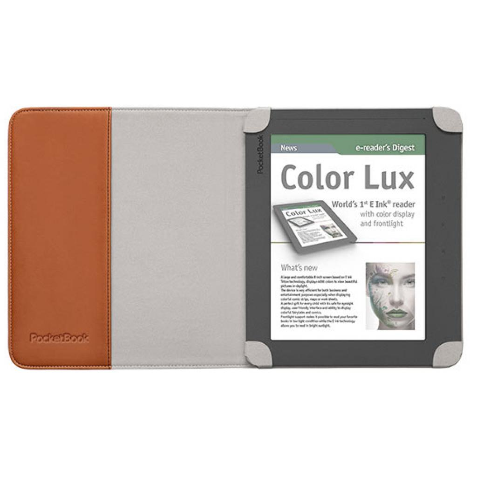 Чехол для электронной книги PocketBook PB801 brown/grey (PBPUC-8-BR-BK) изображение 3