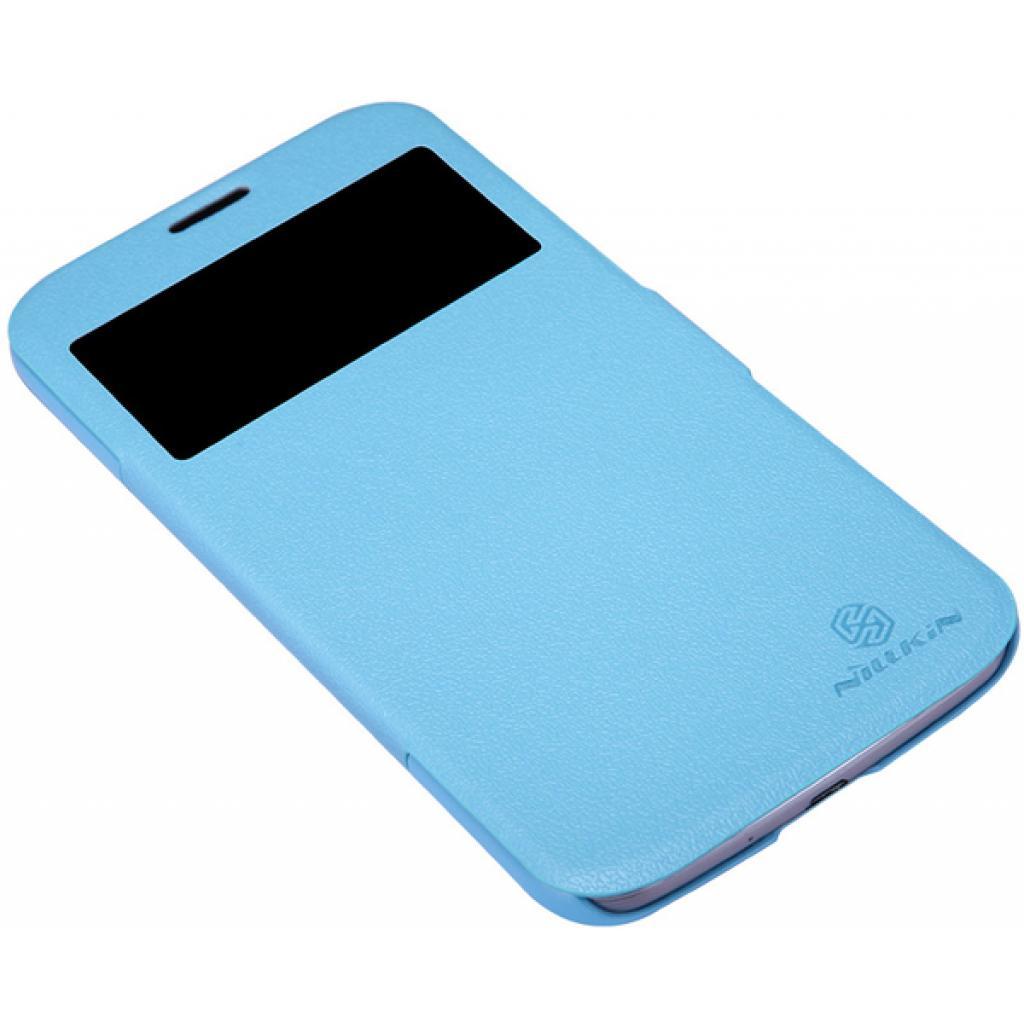Чехол для моб. телефона NILLKIN для Samsung I9200 /Fresh/ Leather/Blue (6065847) изображение 2