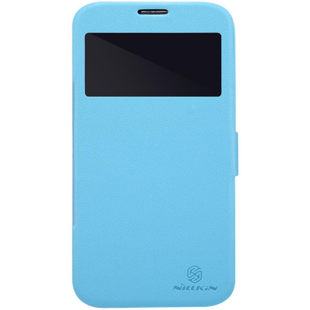 Чехол для моб. телефона NILLKIN для Samsung I9200 /Fresh/ Leather/Blue (6065847)