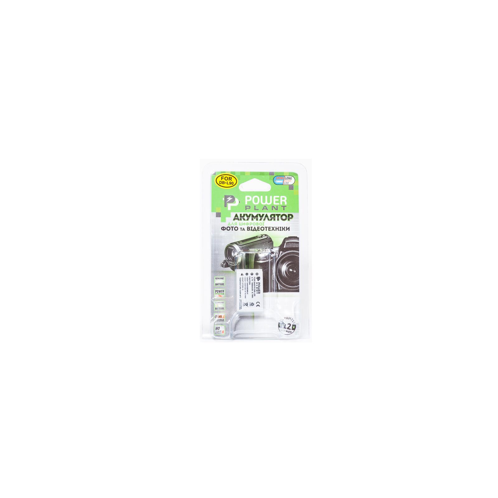Аккумулятор к фото/видео PowerPlant Sanyo DB-L90 (DV00DV1267) изображение 3