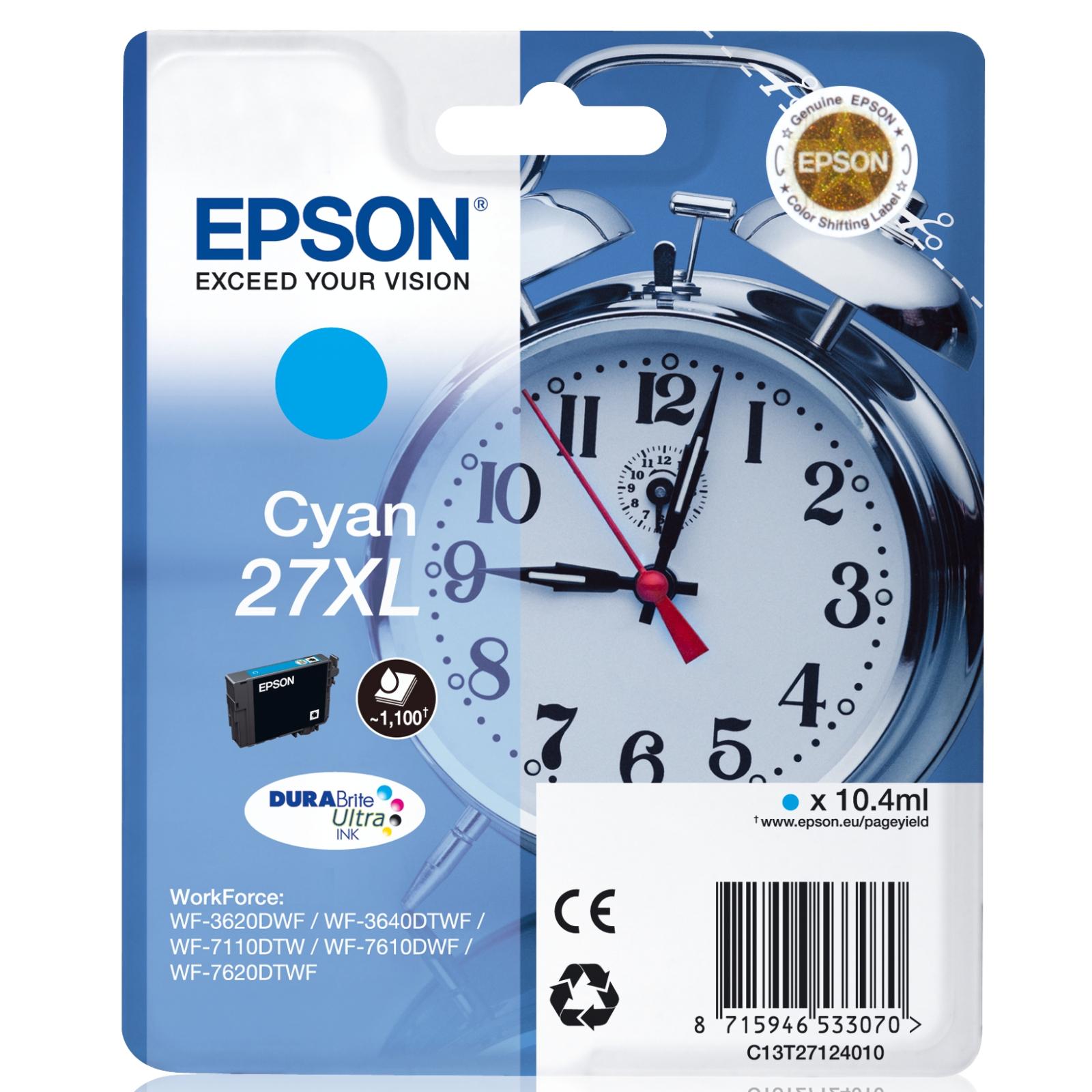 Картридж EPSON 27XL WF-7620 cyan XL (C13T27124020/C13T27124022)