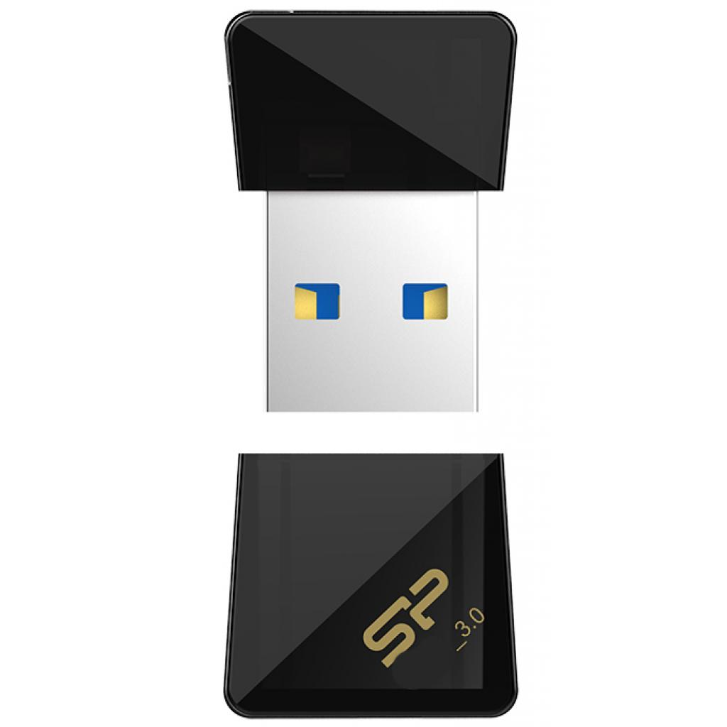 USB флеш накопитель Silicon Power 32GB Jewel J08 Black USB 3.0 (SP032GBUF3J08V1K) изображение 3