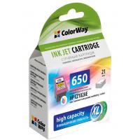 Картридж ColorWay HP №650 color (CZ102AE) ink level (CW-H650XLC-I)