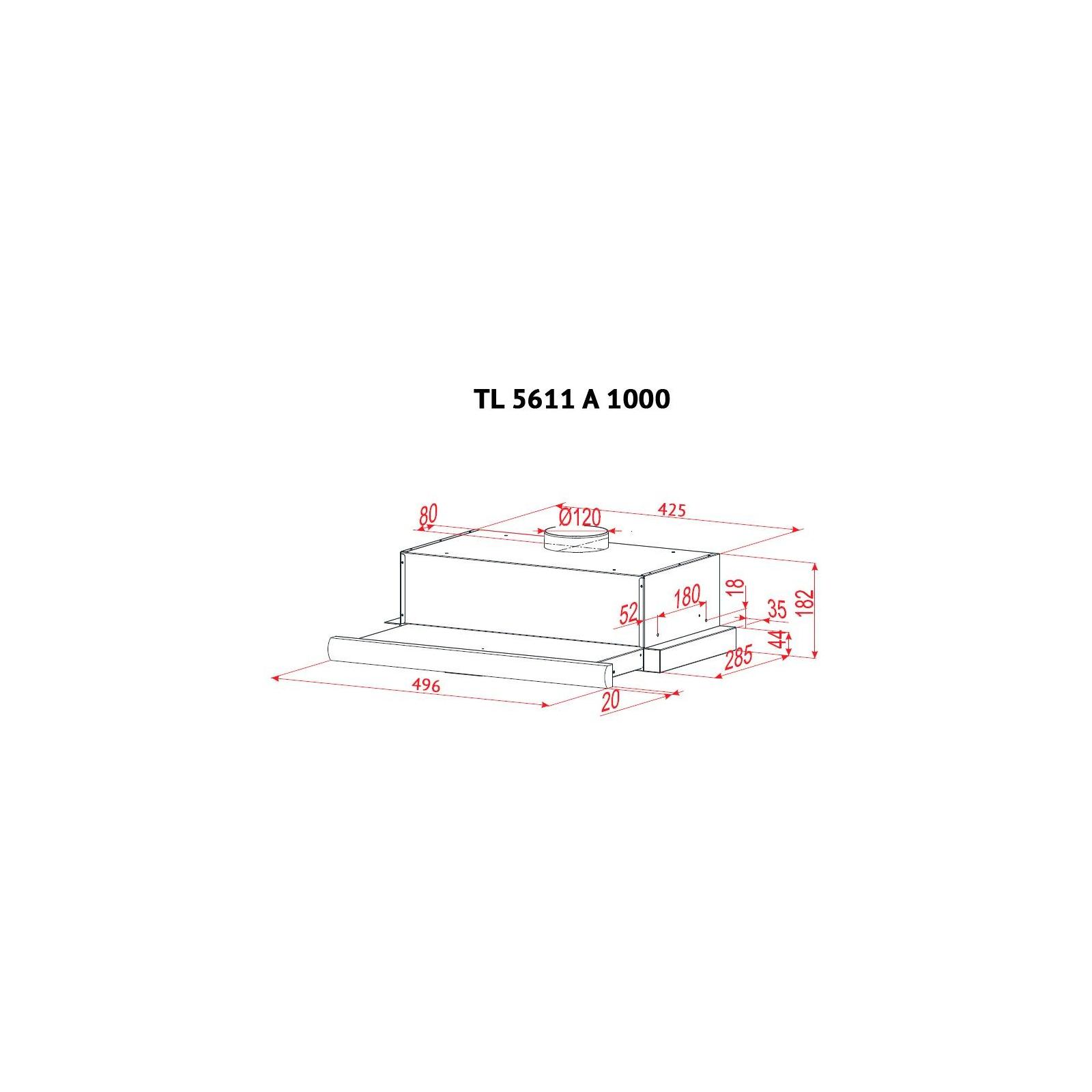 Вытяжка кухонная PERFELLI TL 5611 A 1000 W изображение 8