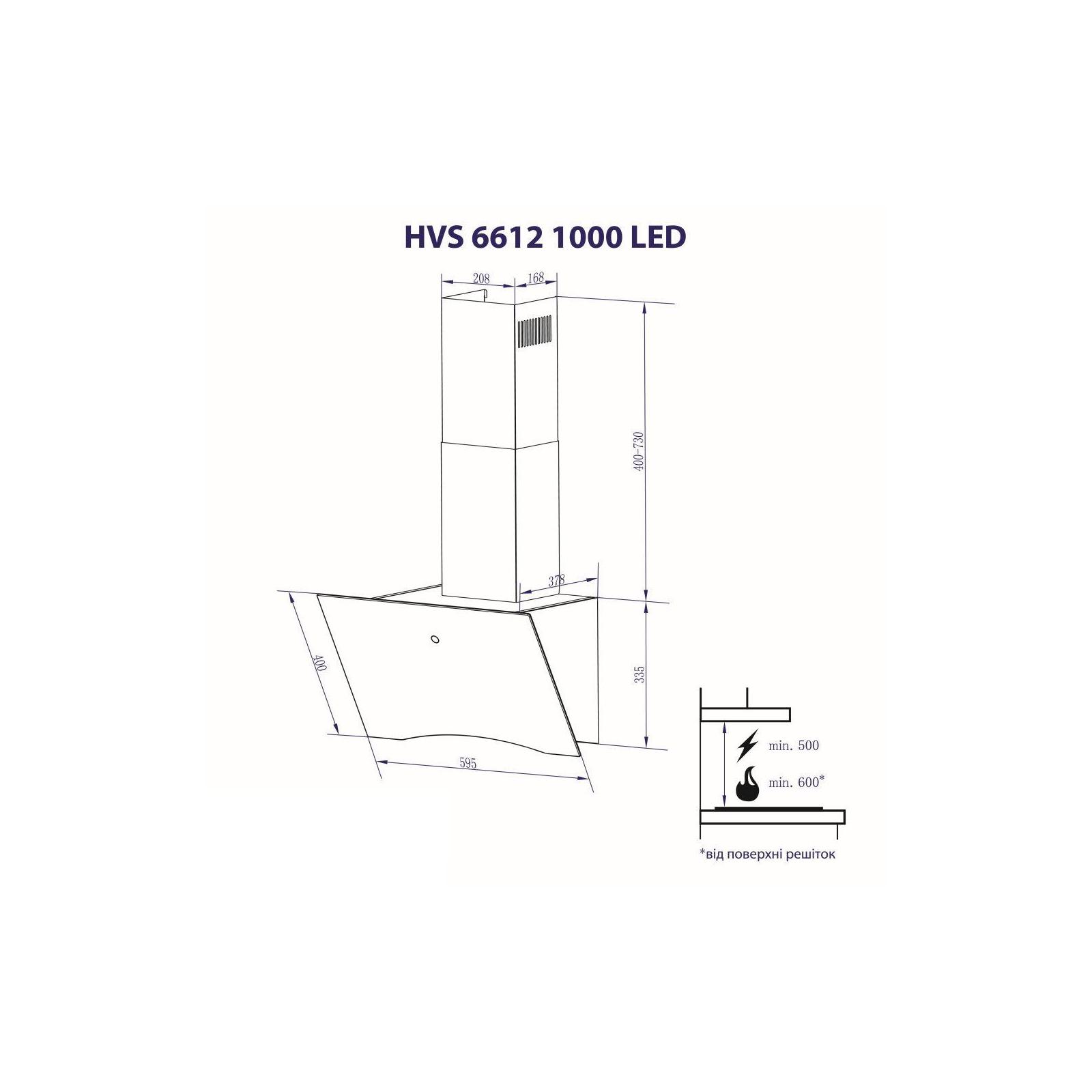 Вытяжка кухонная MINOLA HVS 6612 WH 1000 LED изображение 10
