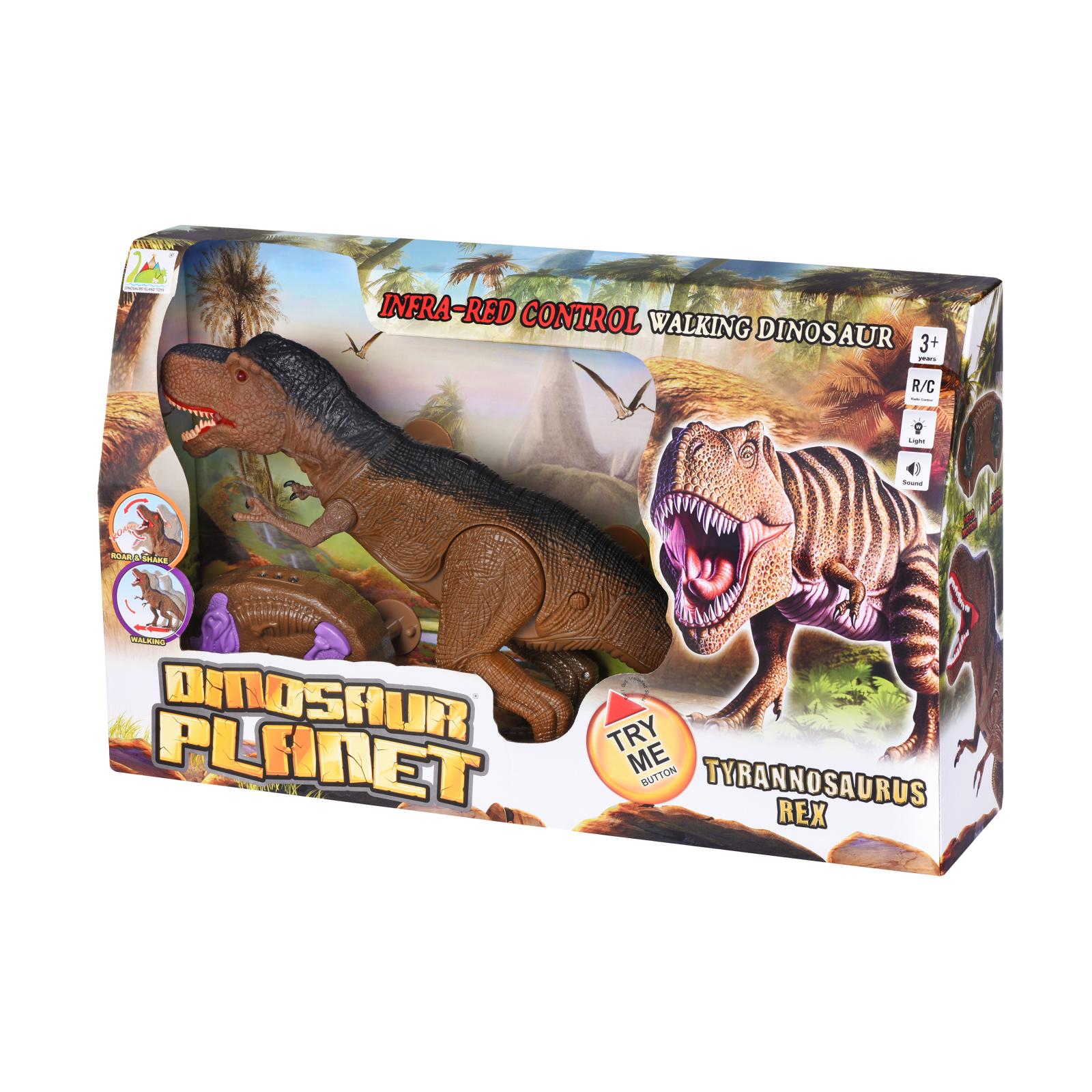 Интерактивная игрушка Same Toy Динозавр Dinosaur Planet коричневый со светом и звуком (RS6133Ut) изображение 11