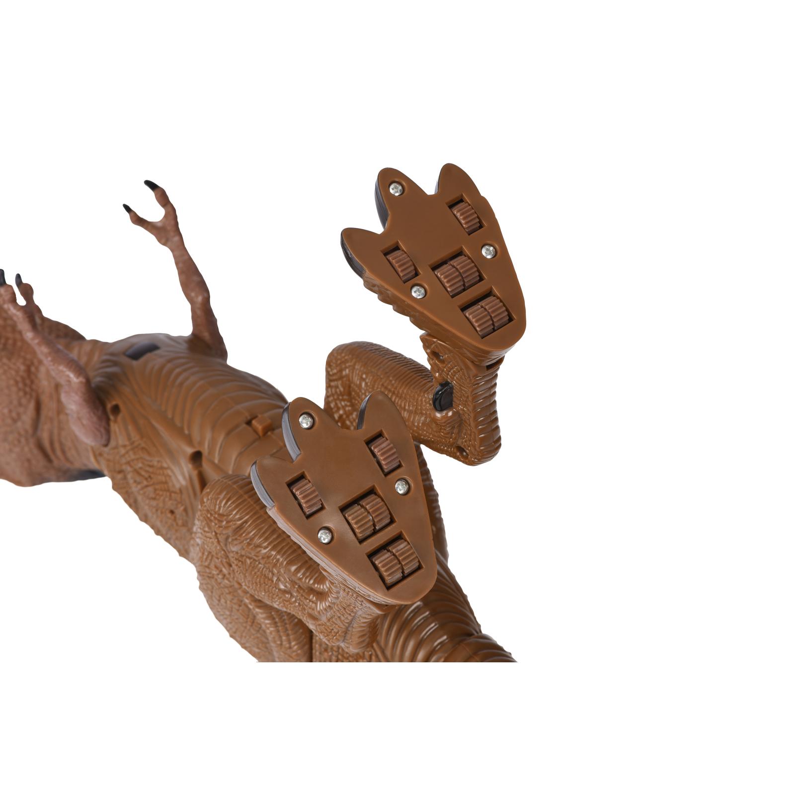 Интерактивная игрушка Same Toy Динозавр Dinosaur Planet коричневый со светом и звуком (RS6133Ut) изображение 7