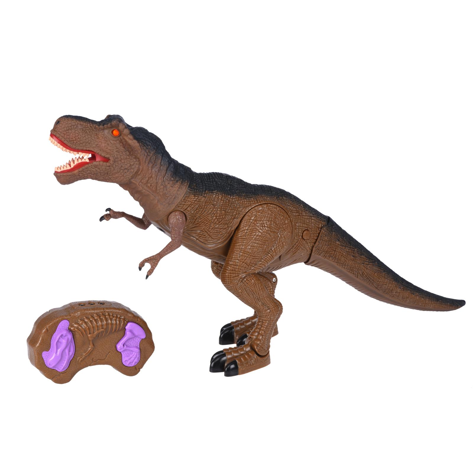 Интерактивная игрушка Same Toy Динозавр Dinosaur Planet коричневый со светом и звуком (RS6133Ut)