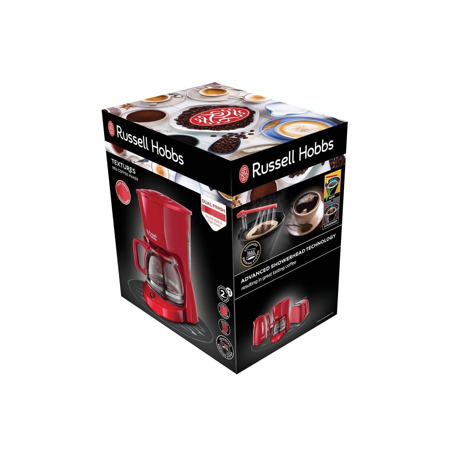 Кофеварка Russell Hobbs Textures Red (22611-56) изображение 6