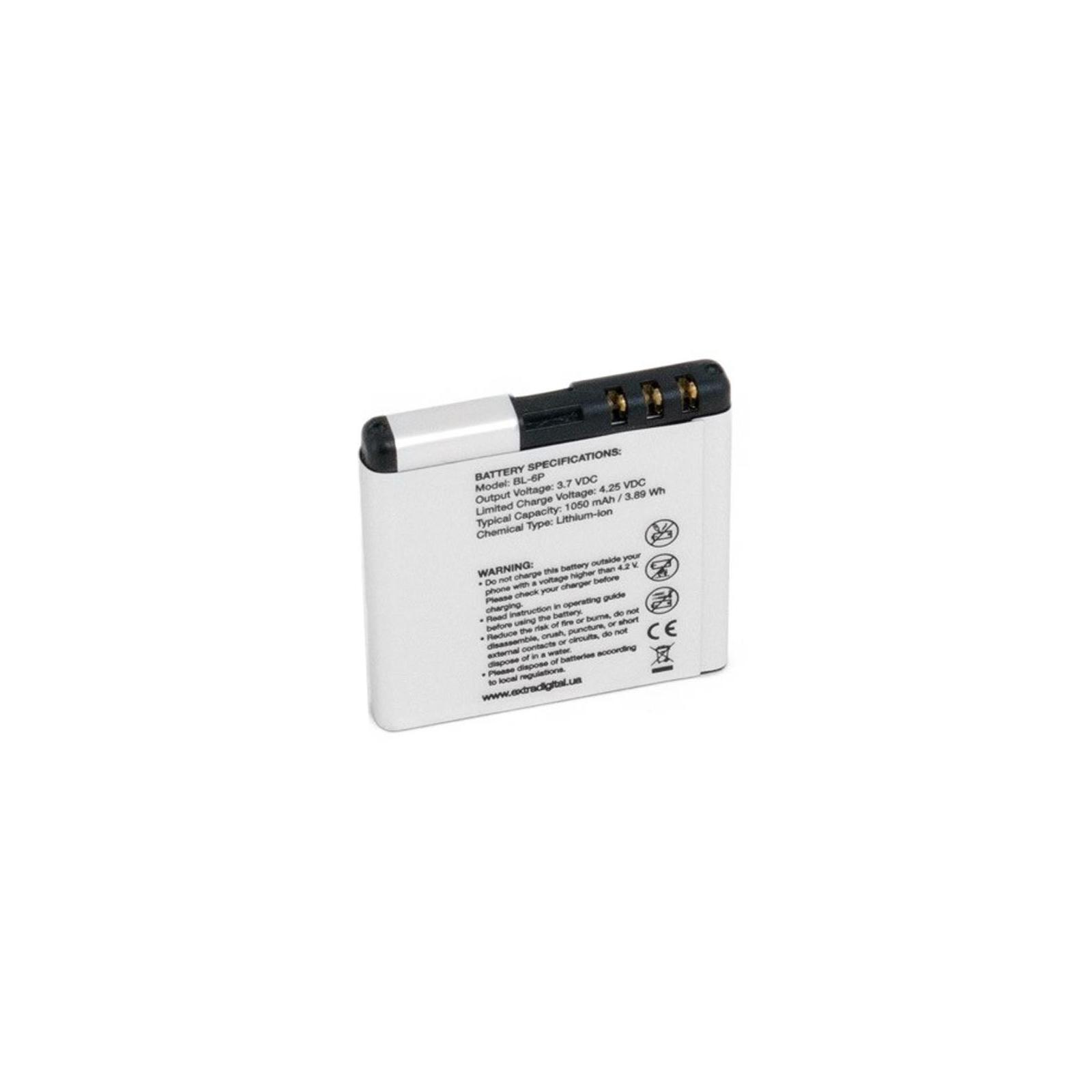 Аккумуляторная батарея EXTRADIGITAL Nokia BL-6P (1050 mAh) (BMN6282) изображение 2