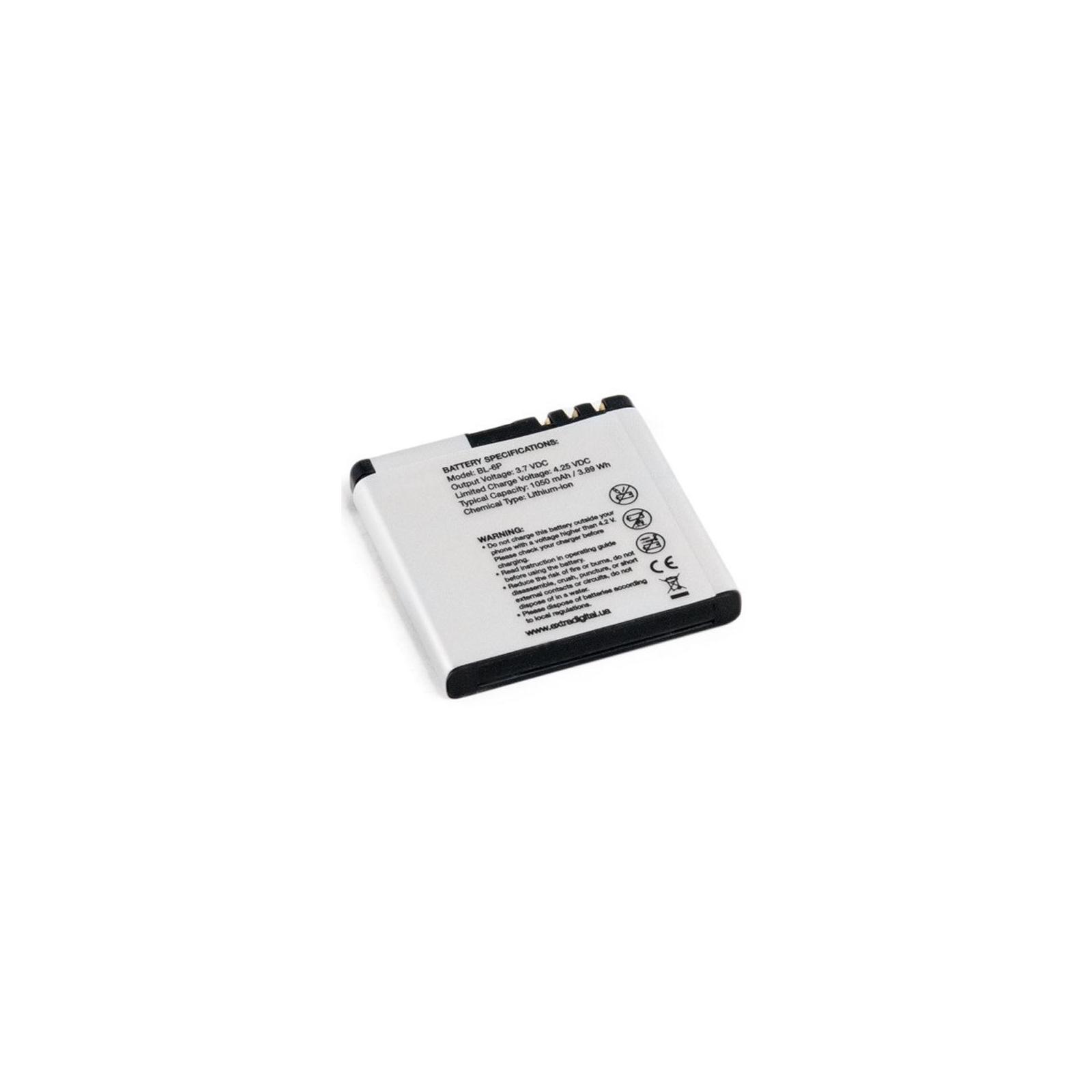 Аккумуляторная батарея EXTRADIGITAL Nokia BL-6P (1050 mAh) (BMN6282) изображение 4