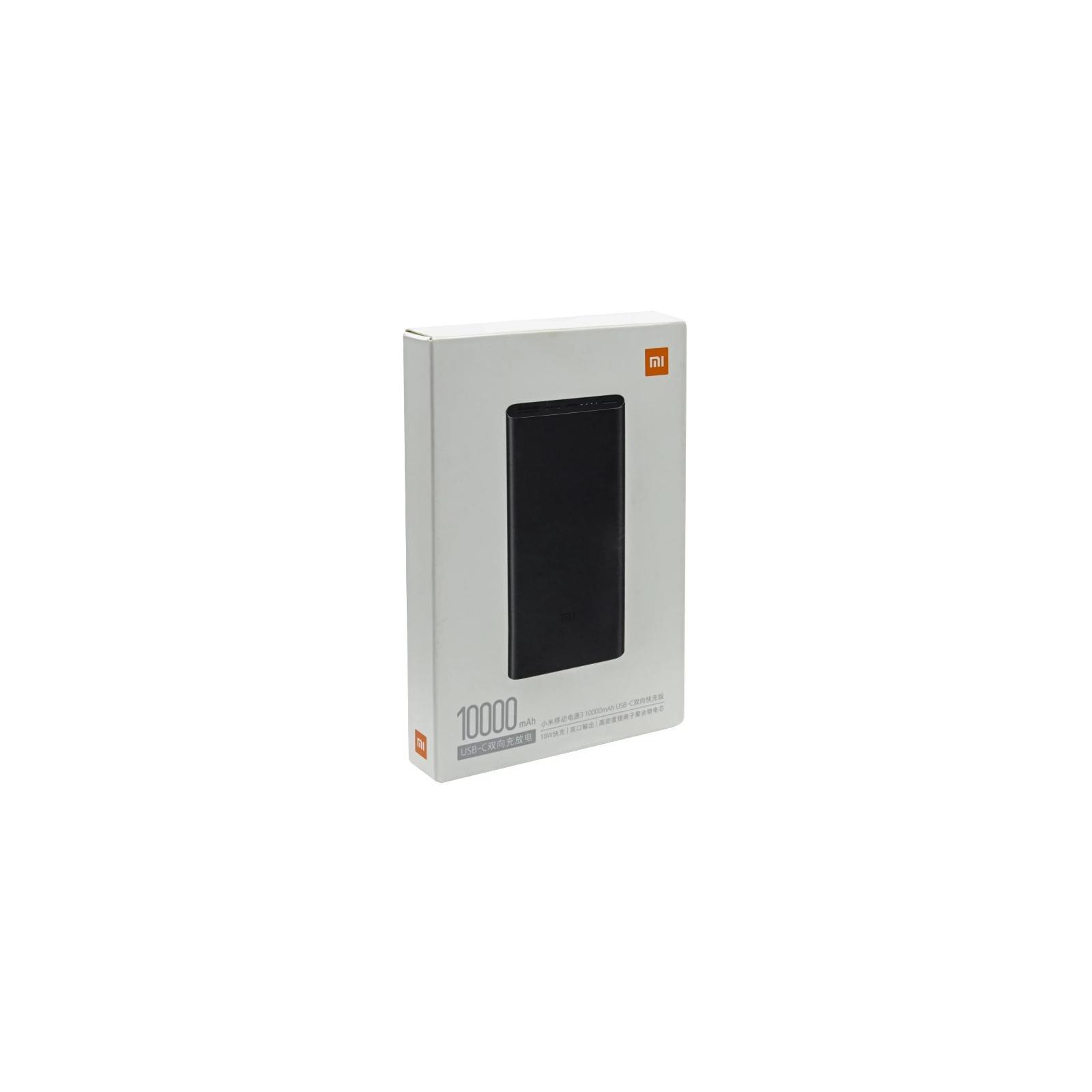 Батарея универсальная Xiaomi Mi Power bank 3 10000mAh QC3.0(Type-C), QC2.0(USB) Black (PLM12ZM-Black) изображение 8