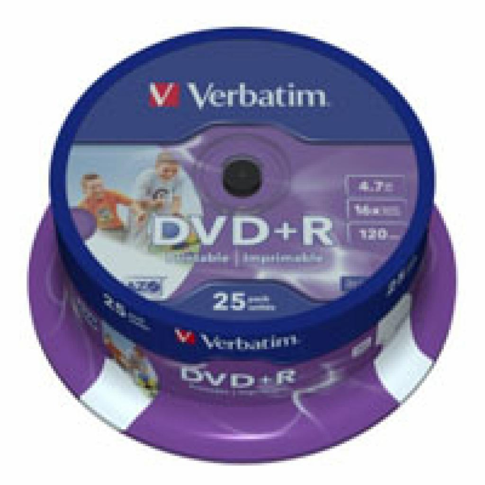 Диск DVD+R Verbatim 4.7Gb 16X CakeBox 25шт Silver (43500)