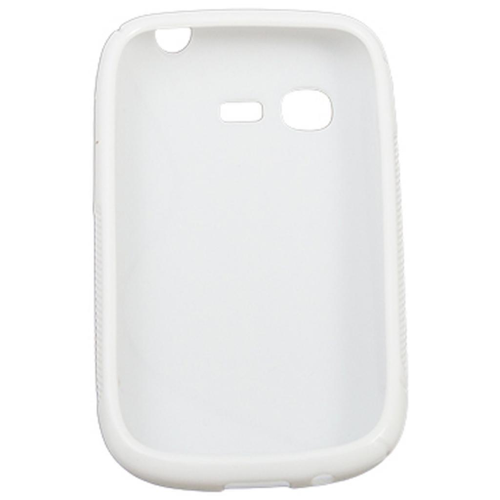 Чехол для моб. телефона Drobak для Samsung S5312 Galaxy Pocket Neo /Elastic PU/White (218986) изображение 2