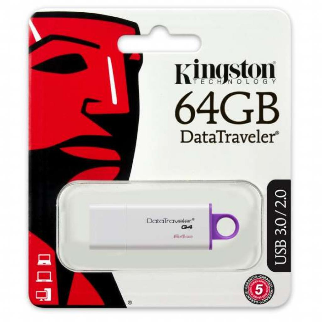 USB флеш накопитель Kingston 64Gb DataTraveler Generation 4 (DTIG4/64GB) изображение 3