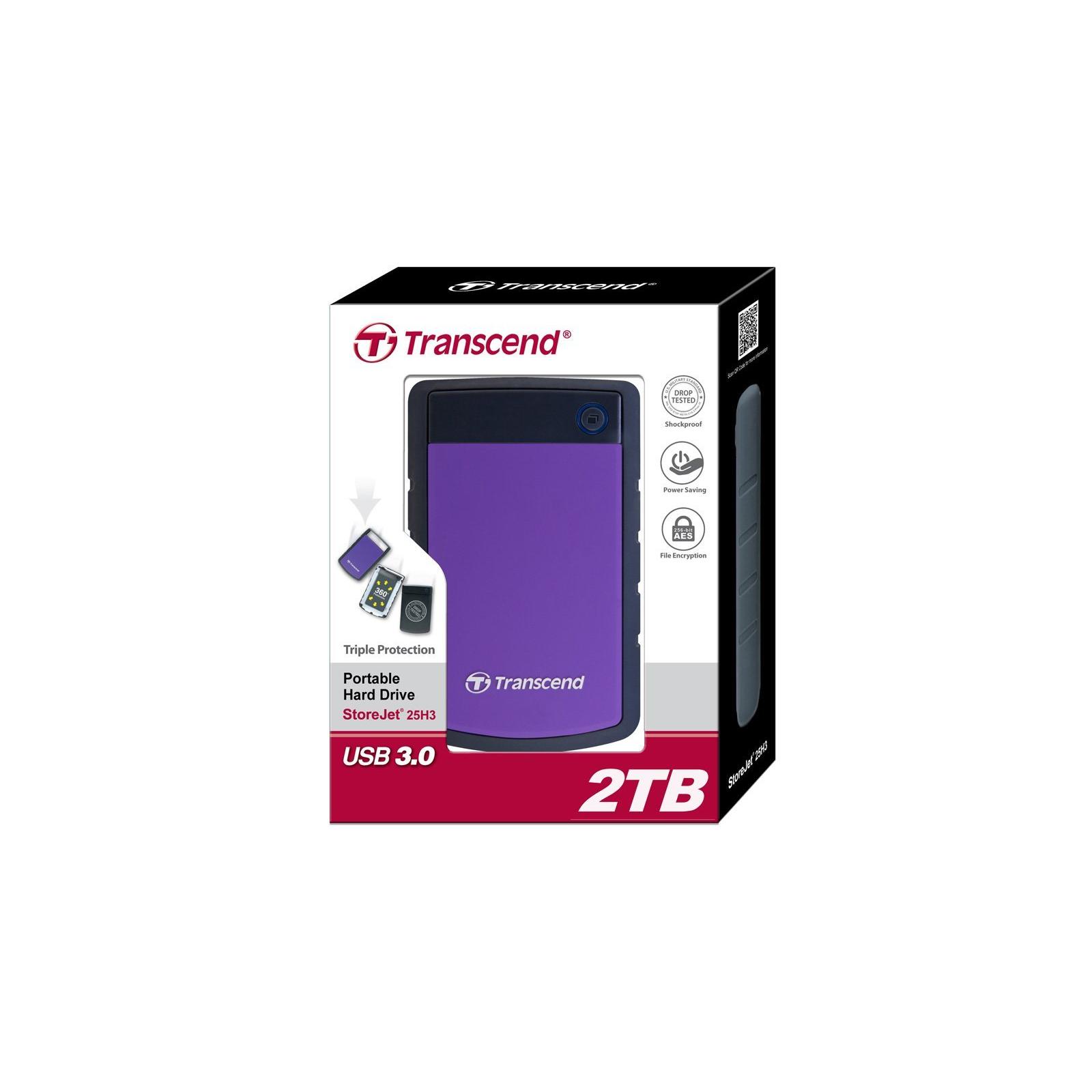 "Внешний жесткий диск 2.5"" 2TB Transcend (TS2TSJ25H3P) изображение 4"