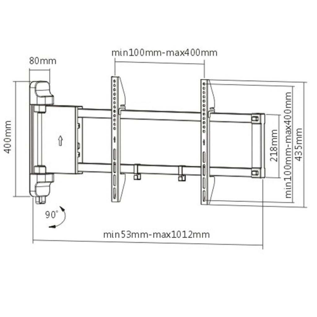Кронштейн BRATECK PLB-M03 изображение 3