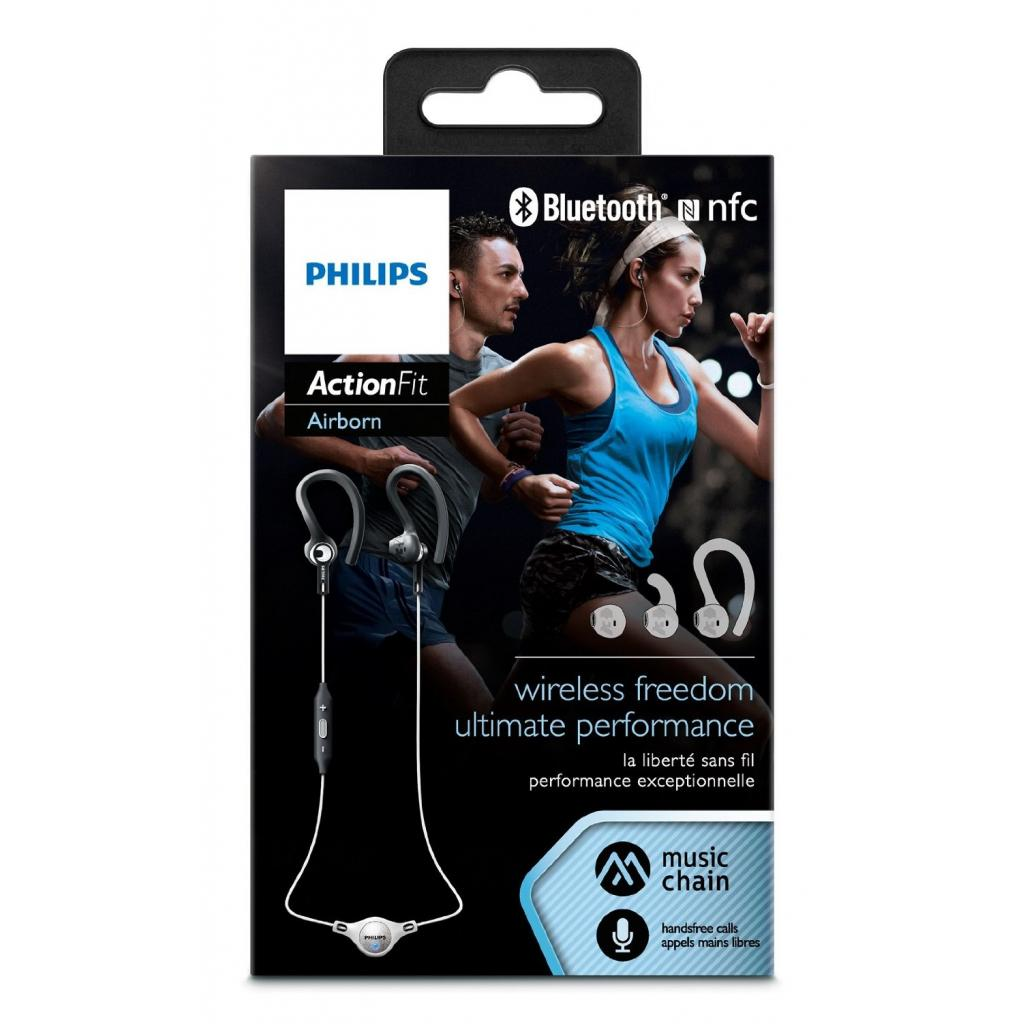 Наушники PHILIPS SHQ8300 ActionFit Black/White Bluetooth (SHQ8300WS/00) изображение 3