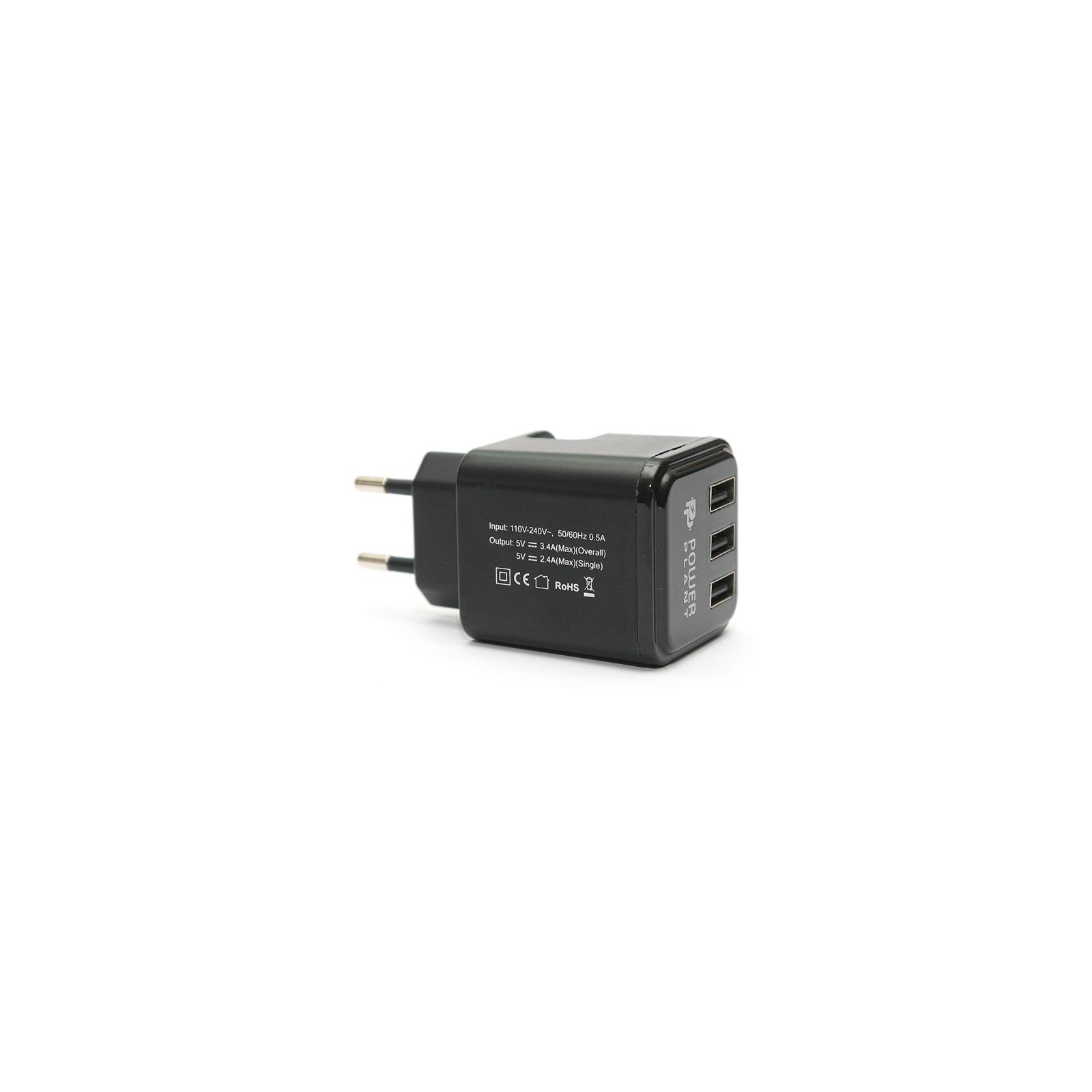 Зарядное устройство PowerPlant W-360 3*USB/3.4A (DV00DV5065) изображение 3