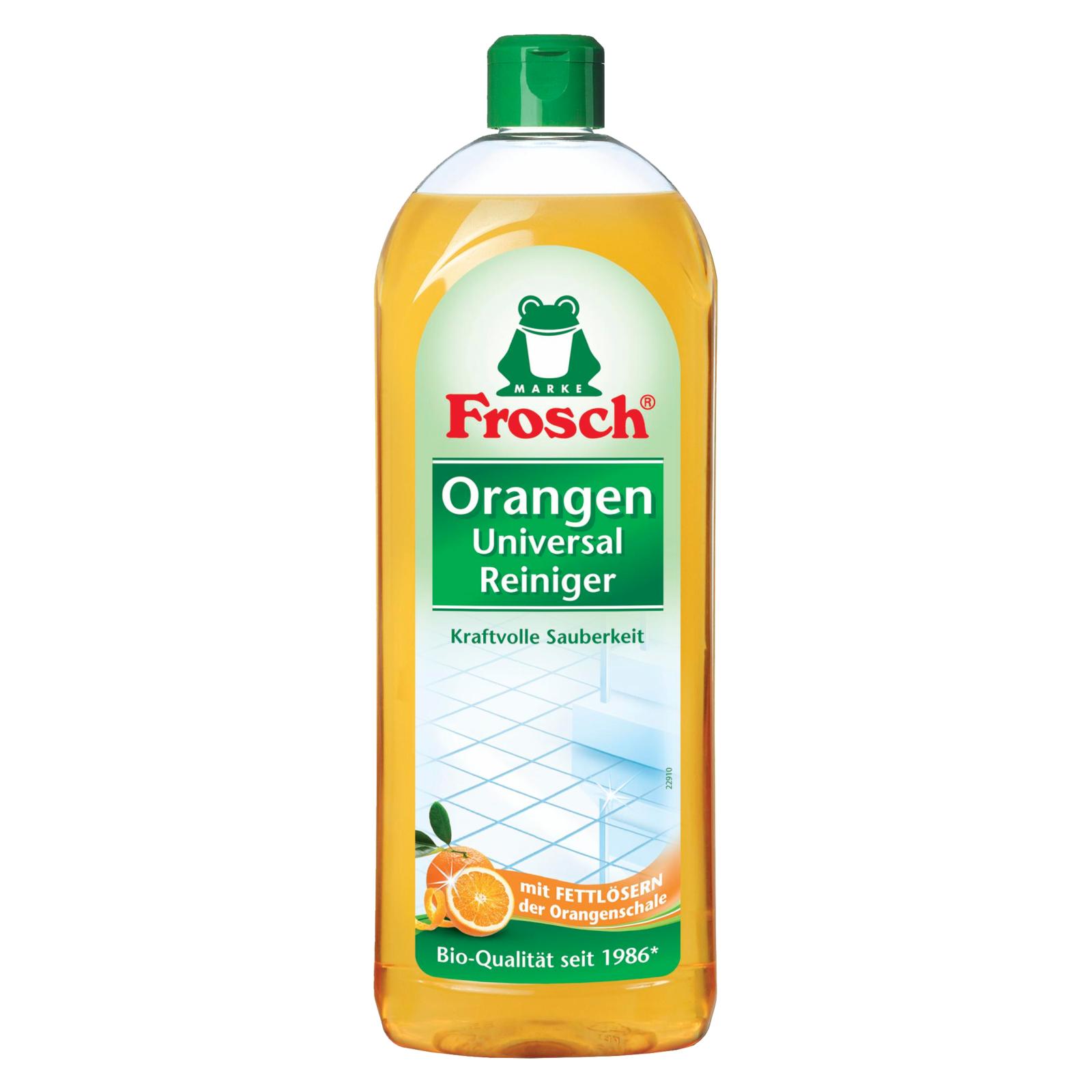 Моющая жидкость для уборки Frosch Апельсин 750 мл (4001499140648)