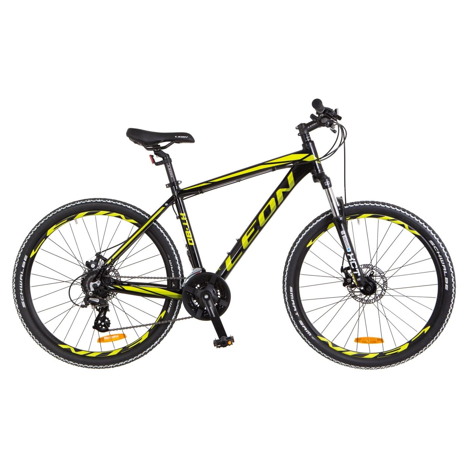 """Велосипед Leon 26"""" HT-80 2018 AM 14G DD рама-20"""" Al черно-салатовый (OPS-LN-26-029)"""